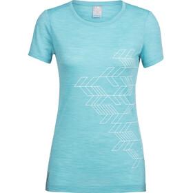 Icebreaker Sphere Fracture t-shirt Dames turquoise